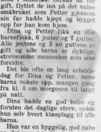 Minneord Dina Bjerke