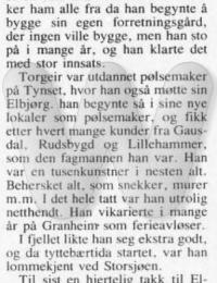 Minneord Torgeir Bjerke