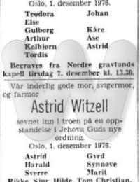 Astrid Witzell DA