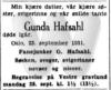 Gunda Hafsahl DA